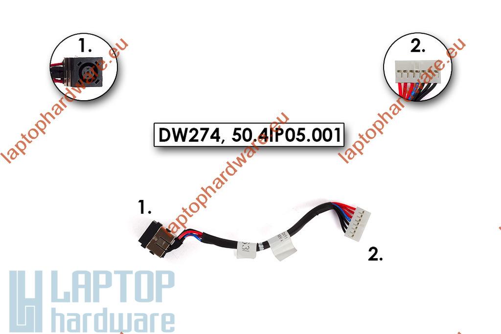 Dell Inspiron M5040, N5040, N5050 gyári új laptop DC tápaljazat kábellel (50.4IP05.001)