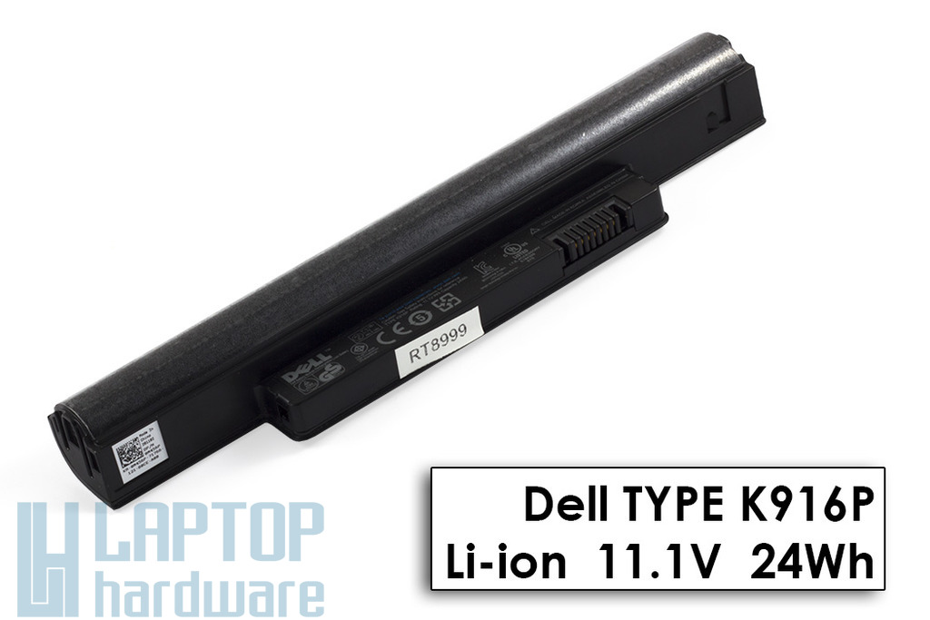 Dell Inspiron Mini 10, 1011, 11z gyári új 3 cellás laptop akku/akkumulátor (K916P, 0M456P)