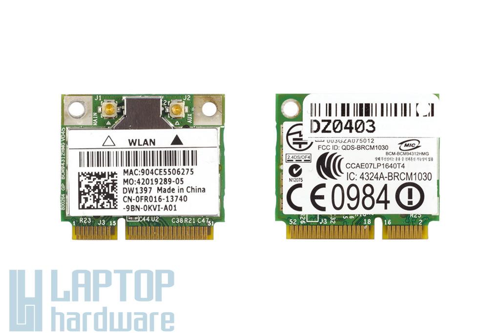 Dell Inspiron Mini 10 Használt wifi kártya, Wlan card, BCM94312HMG, FR016