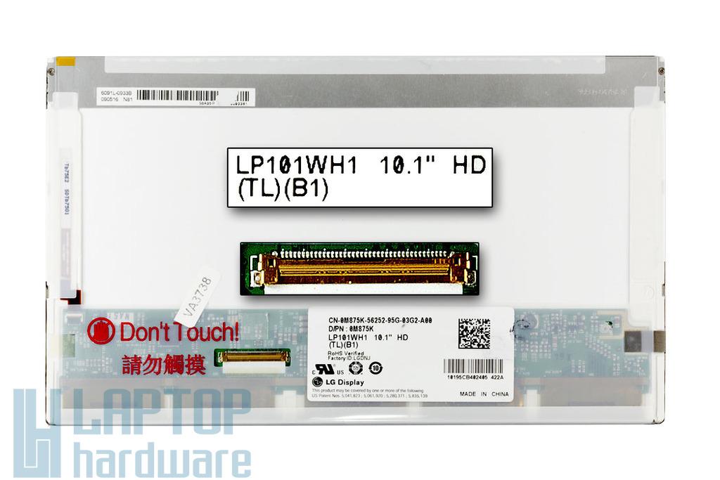 Dell Inspiron Mini 10 LG LP101WH1 (TL)(B1) HD 1366x768 LED használt matt netbook kijelző