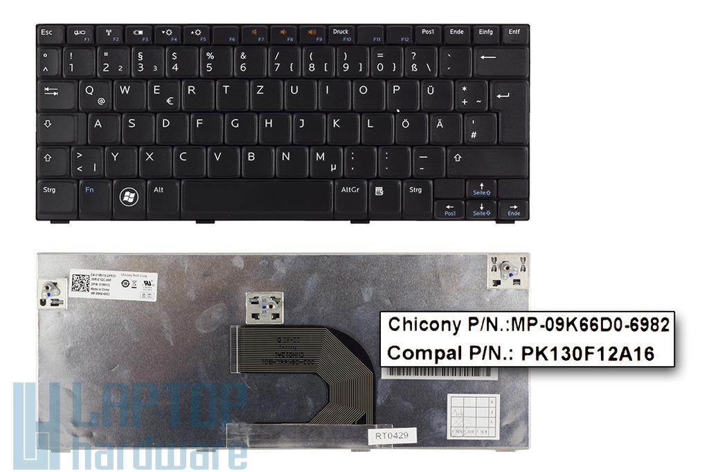 Dell Inspiron Mini 1012, 1018 gyári új német fekete laptop billentyűzet (01MH15)