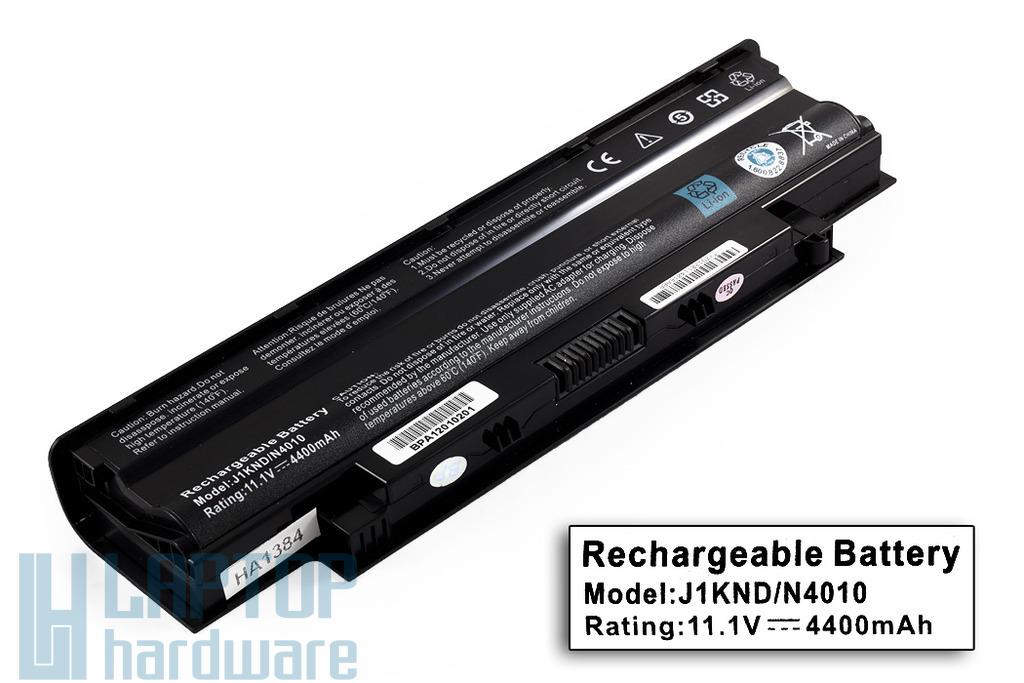 Dell Inspiron N3010, N5010, N7010 helyettesítő laptop akku/akkumulátor  6 cellás, 4400mAh, 48Wh, J1KND