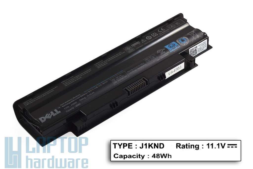 Dell Inspiron N3010, N5010, N7010 használt 50%-os 6 cellás laptop akku/akkumulátor (J1KND)