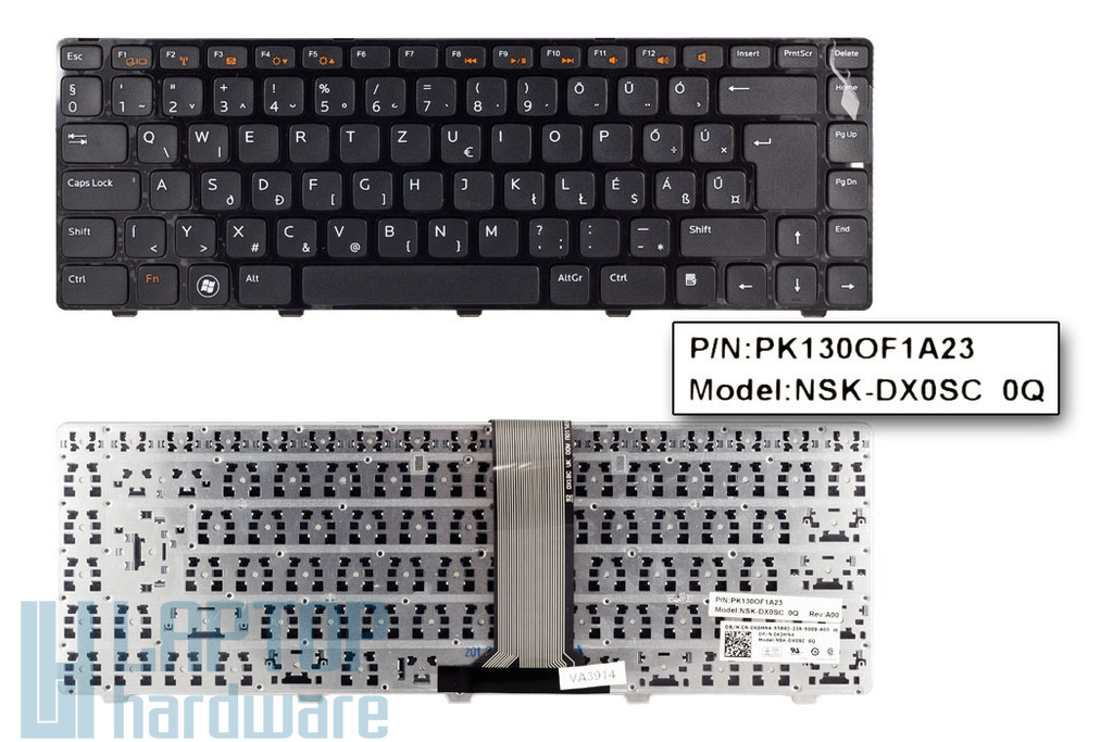 Dell Inspiron N5040, N5050, Vostro 3450, 3460 gyári új magyar laptop billentyűzet (0K0MN4)