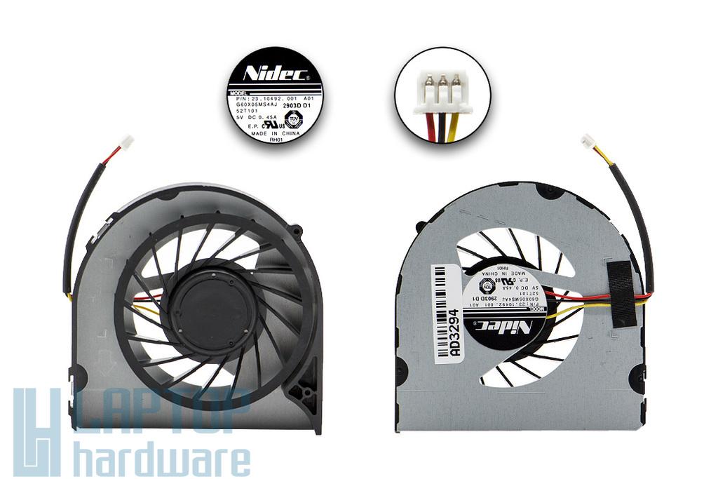 Dell Inspiron N5040, Vostro 1540, 2520 gyári új laptop hűtő ventilátor (G60X05MS4AJ, 23.10492.001)