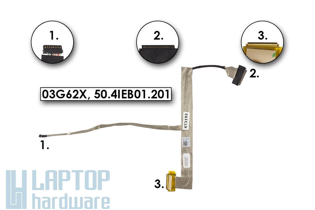 Dell Inspiron N5110, Vostro V3550 gyári új laptop LCD kijelző kábel (03G62X)