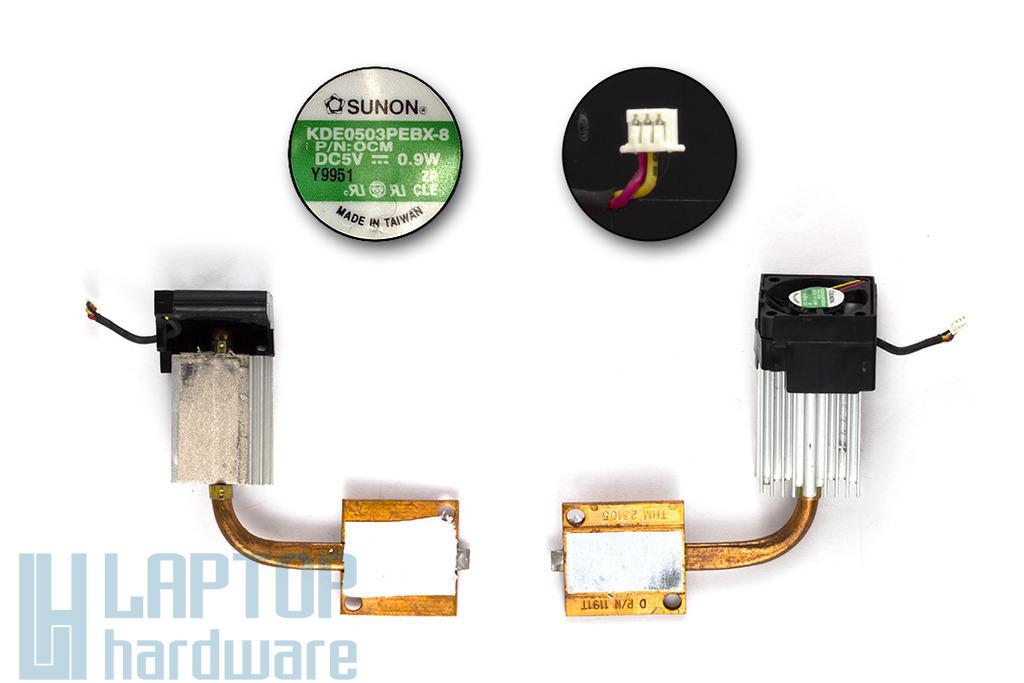 Dell Latitude CPx, CPIR használt komplett laptop hűtő ventilátor egység (4740E, KDE0503PEBX-8)