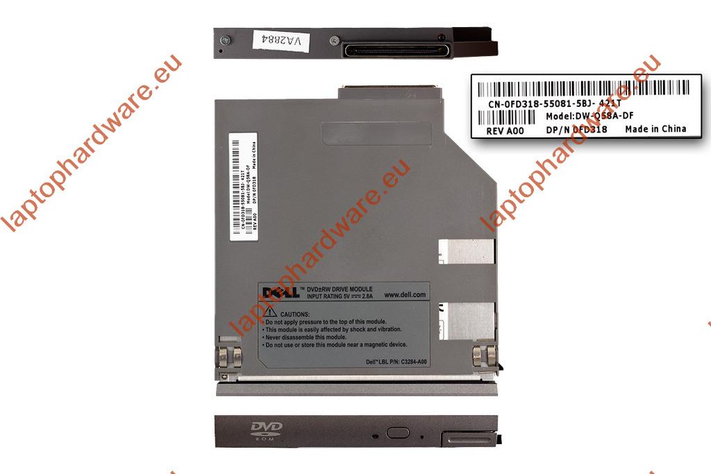 Dell Latitude D400, D500, D600, D620, D630, D800 laptophoz DVD olvasó (0FD318,0XP544)