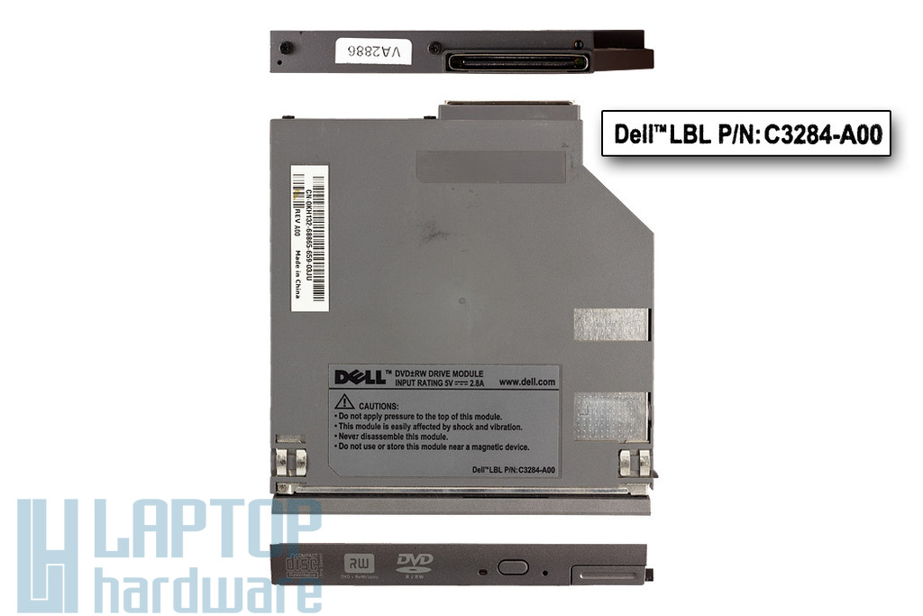 Dell Latitude D400, D500, D600, D620, D630, D800 laptophoz használt DVD-író (C3284-A00)