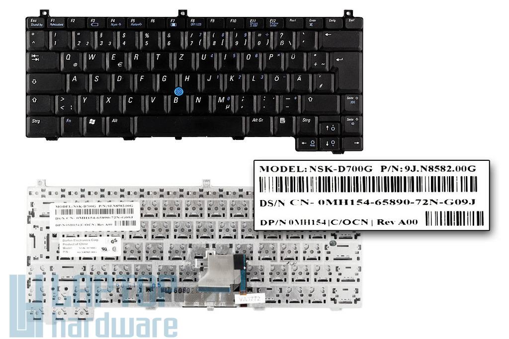 Dell Latitude D420, D430 használt német laptop billentyűzet (MH154)