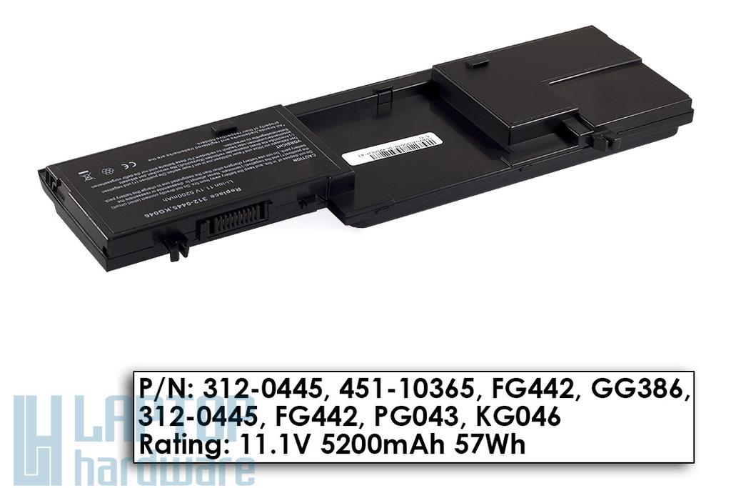 Dell Latitude D420, D430 helyettesítő új 6 cellás laptop akku/akkumulátor (GG386, FG442)