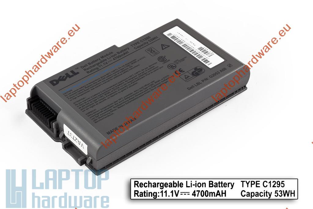 Dell Latitude D500, D505, D600, D610 használt 25%-os 6 cellás laptop akku/akkumulátor , Japán cellákkal, C1295