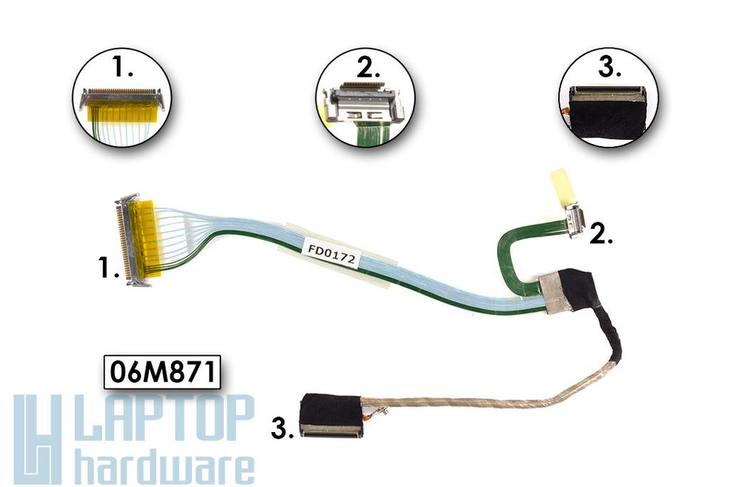 Dell Latitude D500, D600 laptophoz használt (14,1 inch) LCD kábel (06M871)