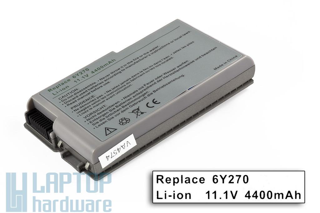 Dell Latitude D500, Inspiron 500M, Precision M20 helyettesítő új 6 cellás laptop akku/akkumulátor (6Y270)