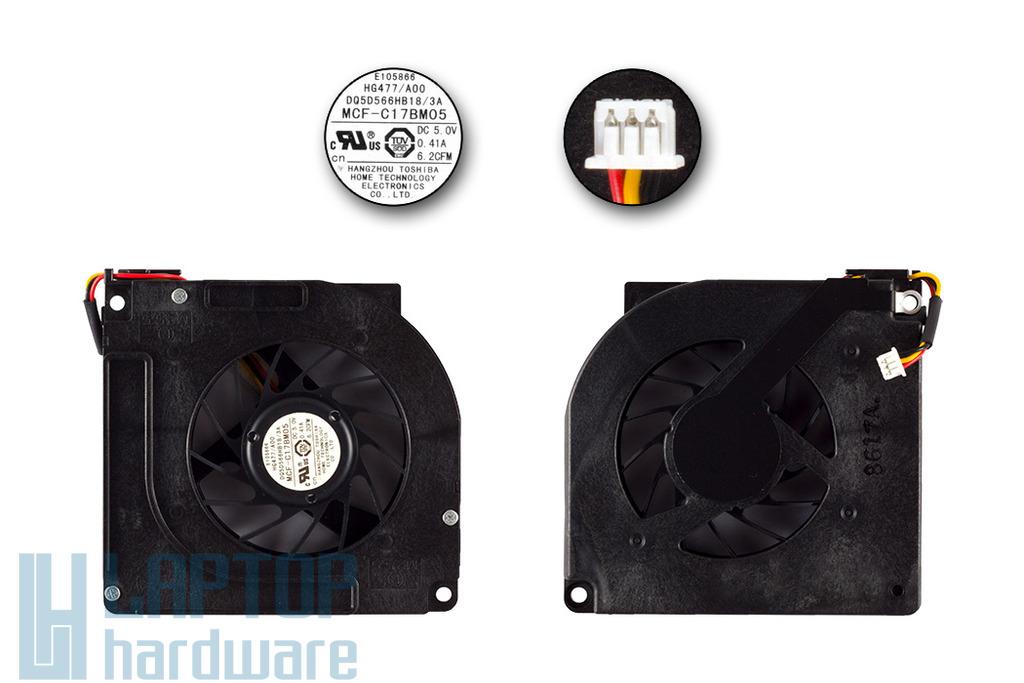Dell Latitude D520, D530 gyári új laptop hűtő ventilátor (MCF-C17BM05)