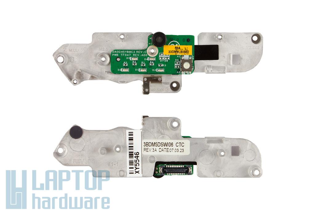Dell Latitude D520 laptophoz használt bekapcsoló panel mikrofonnal (33DM5LB0007)
