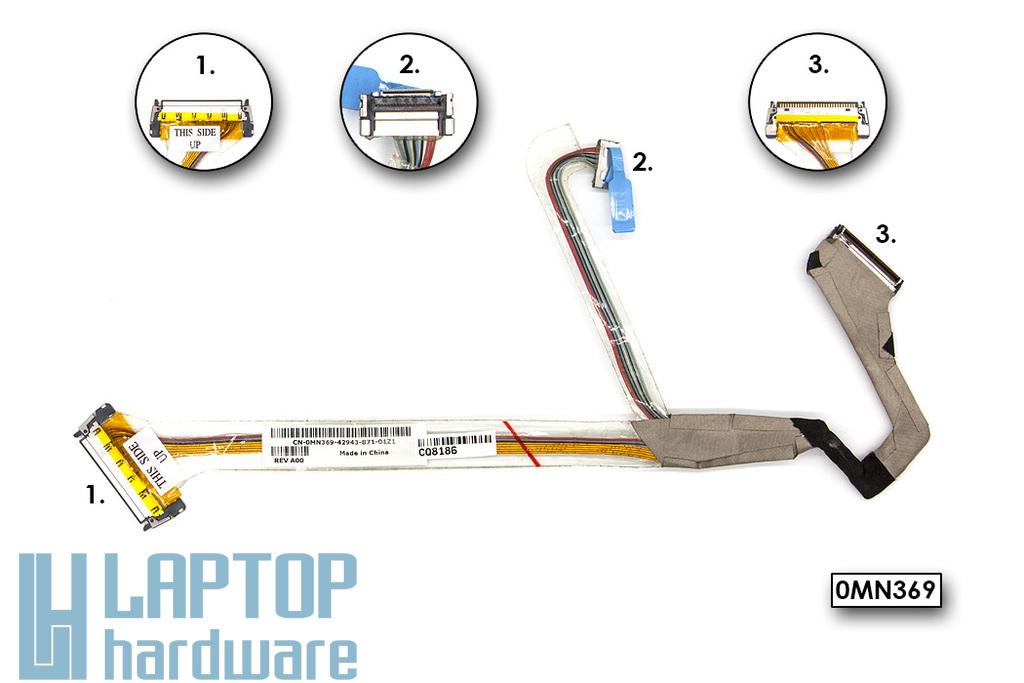 Dell Latitude D531 laptophoz használt LCD kijelző kábel (14.1'') (0MN369)