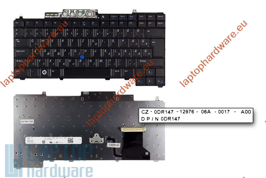 Dell Latitude D620, D630 használt magyar laptop billentyűzet (DP/N 0DR147)