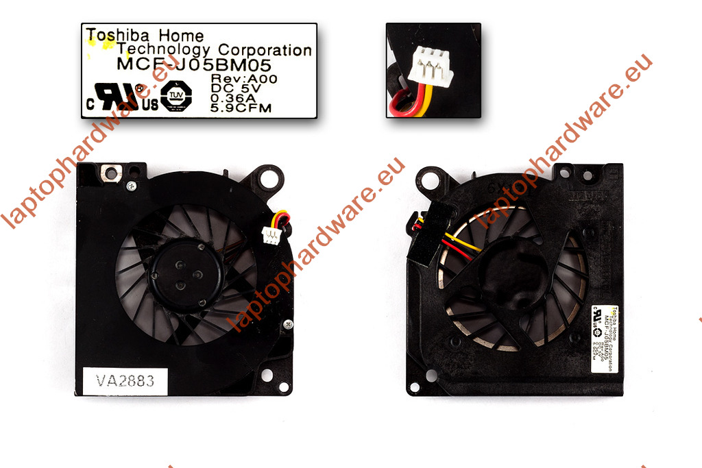 Dell Latitude D620, D630 használt laptop hűtő ventilátor (MCF-J05BM05)