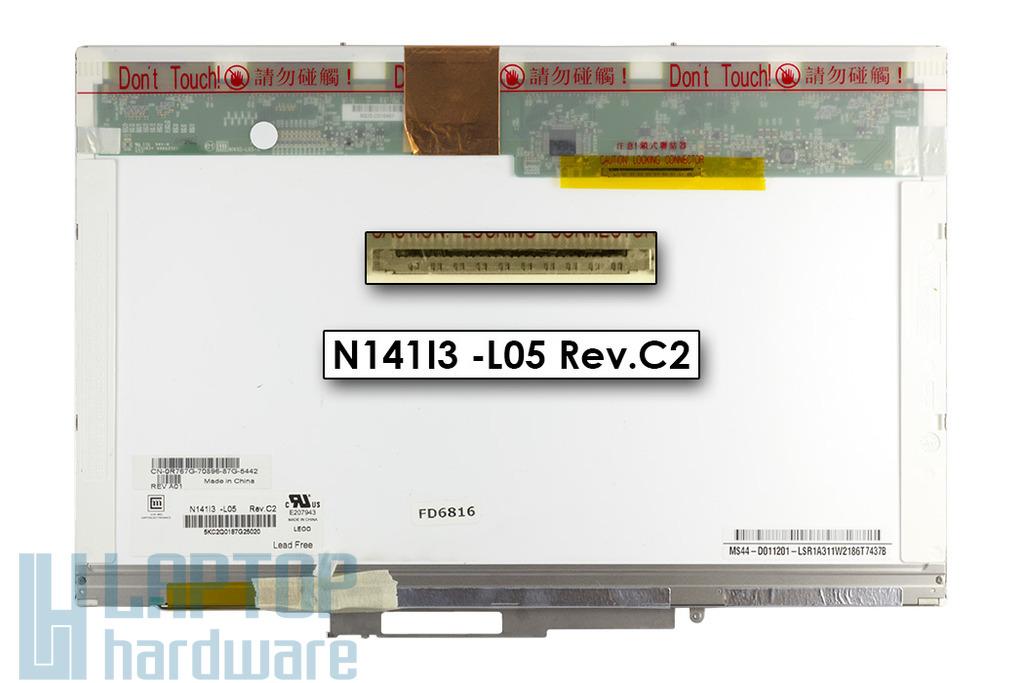 Dell Latitude D620, D630 WXGA 1280x800 használt matt laptop kijelző (N141I3-L05)