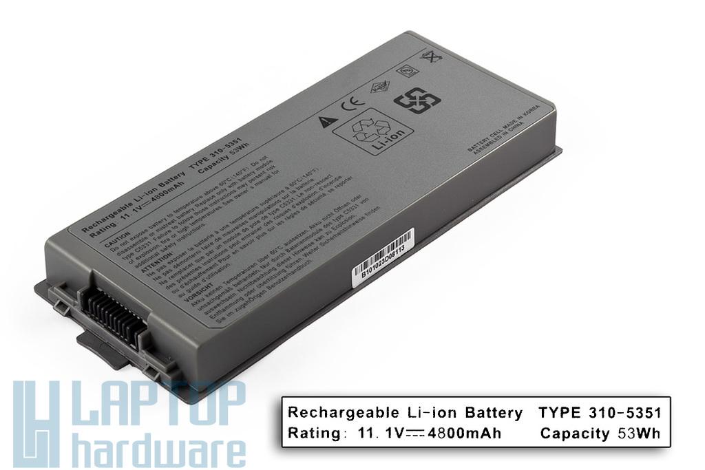 Dell Latitude D810, D840, Precision M70 helyettesítő új 6 cellás laptop akku/akkumulátor (C5331)