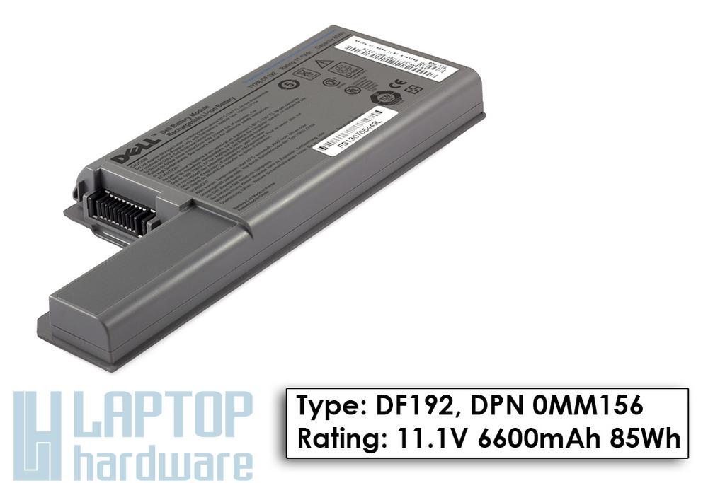 Dell Latitude D820, D830 9 cellás Gyári laptop akku/akkumulátor  TYPE DF192, DPN 0MM156