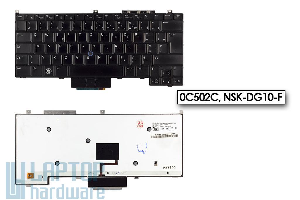 Dell Latitude E4300 használt háttérvilágításos francia laptop billentyűzet (0C502C)