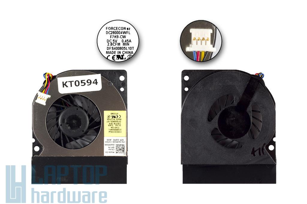 Dell Latitude E4300 laptophoz gyári új hűtő ventilátor, WM598