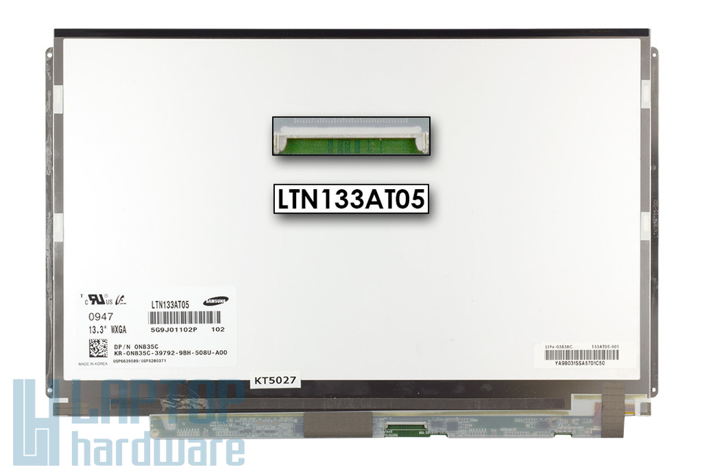 Dell Latitude E4300, XPS M1330 gyári új 13.3'' Slim LED matt kijelző, LTN133AT05 102, 0N835C
