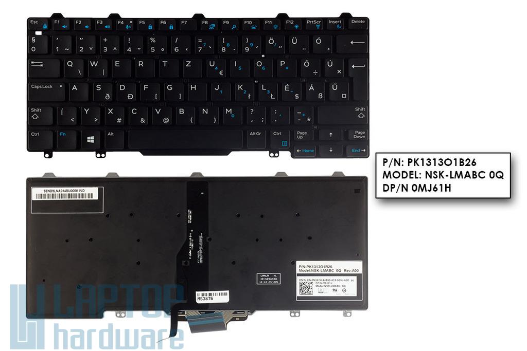 Dell Latitude E5250, E7250 gyári új háttér-világításos magyar laptop billentyűzet (0MJ61H)
