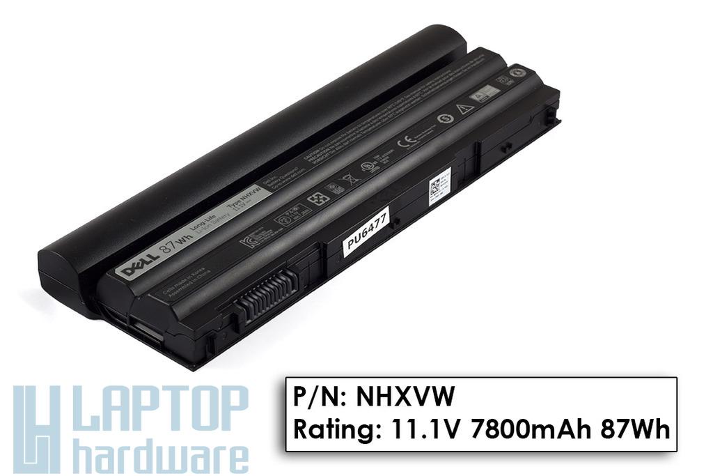 Dell Latitude E5420, E5520, E6420, E6520 gyári új 9 cellás 87Wh laptop akku/akkumulátor  NHXVW, XV2VV