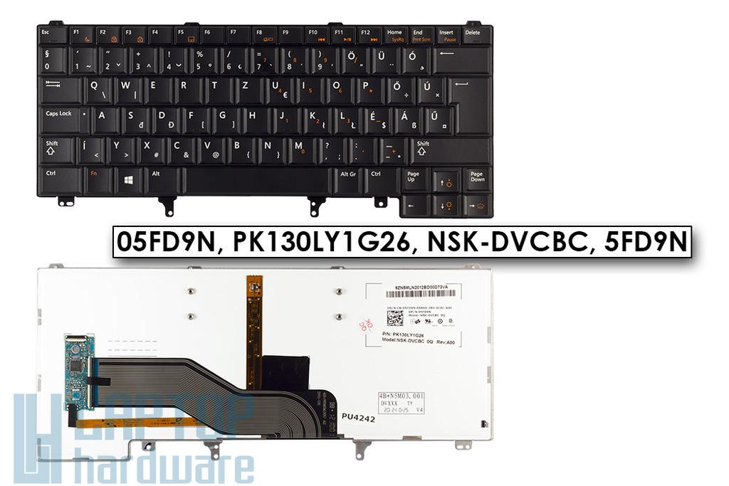 Dell Latitude E5420, E6320, E6420 gyári új magyar háttér-világításos laptop billentyűzet, trackpoint nélküli (05FD9N)