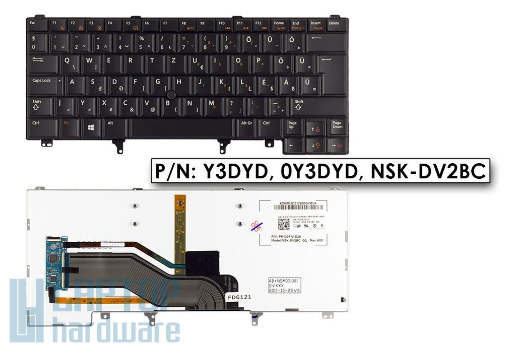 Dell Latitude E5420, E6320, E6420 gyári új magyar háttér-világításos laptop billentyűzet (Y3DYD)