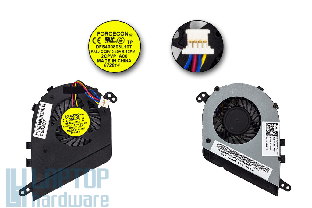 Dell Latitude E5420 gyári új laptop hűtő ventilátor (02CPVP, FA6J)