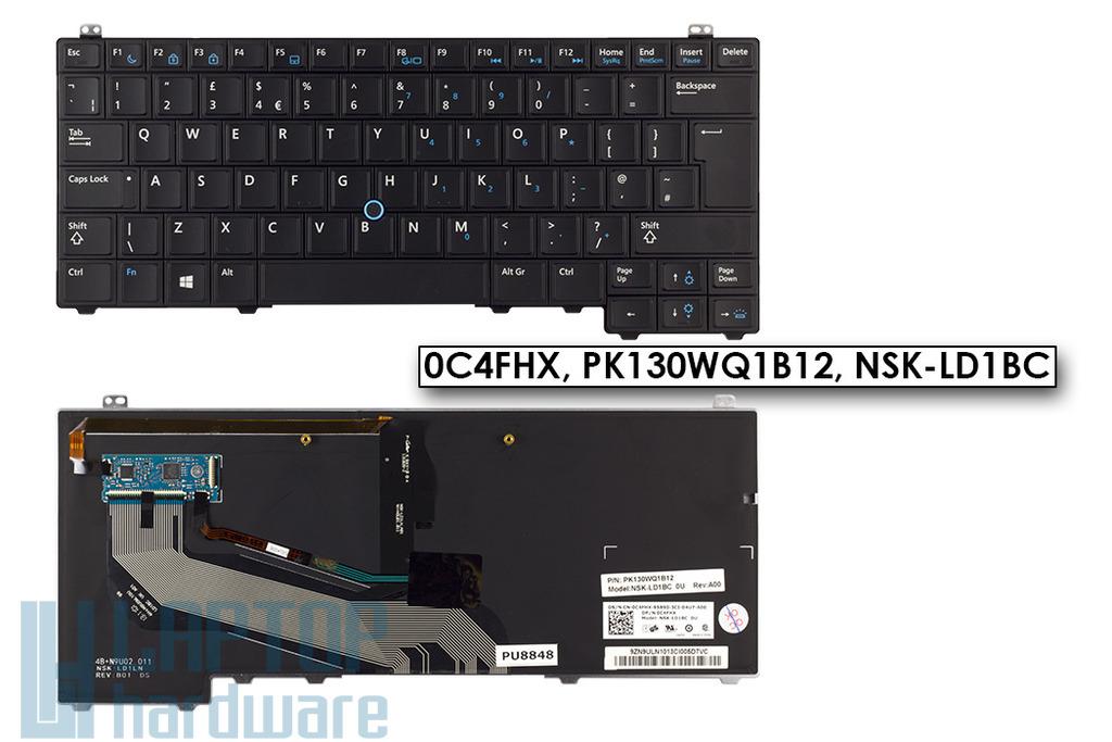 Dell Latitude E5440 gyári új UK angol háttér-világításos laptop billentyűzet (0C4FHX)