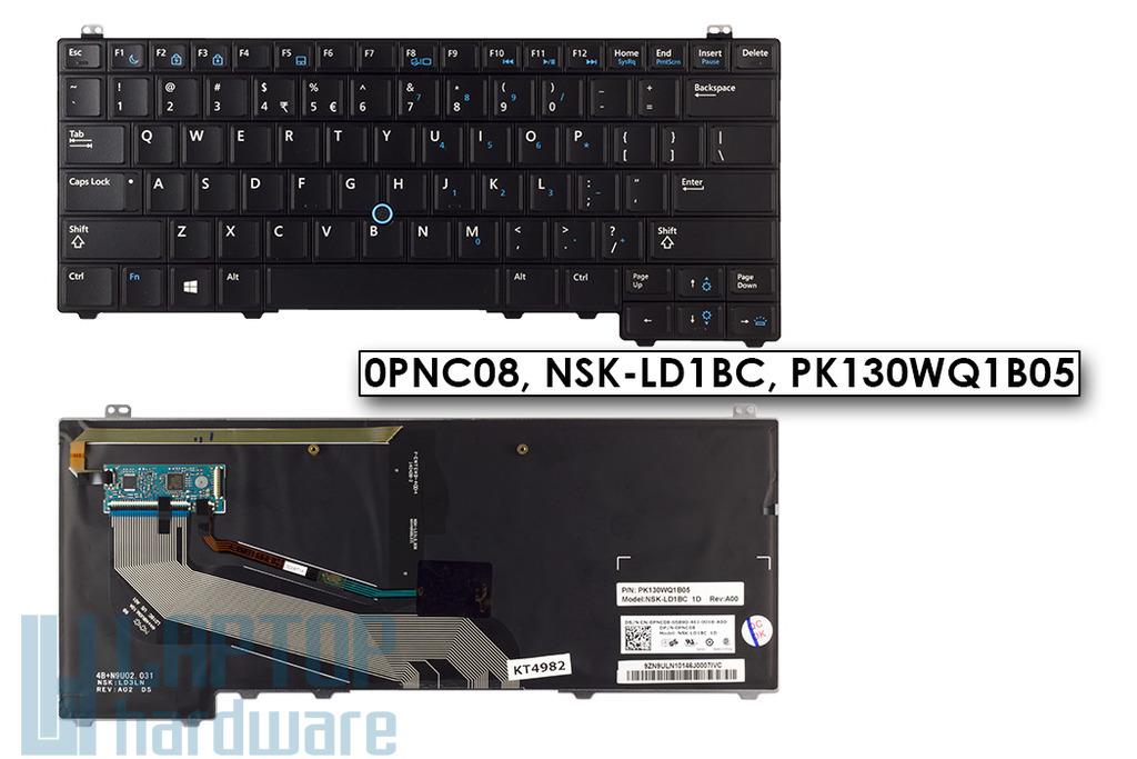 Dell Latitude E5440 gyári új US angol háttér-világításos laptop billentyűzet (0PNC08)