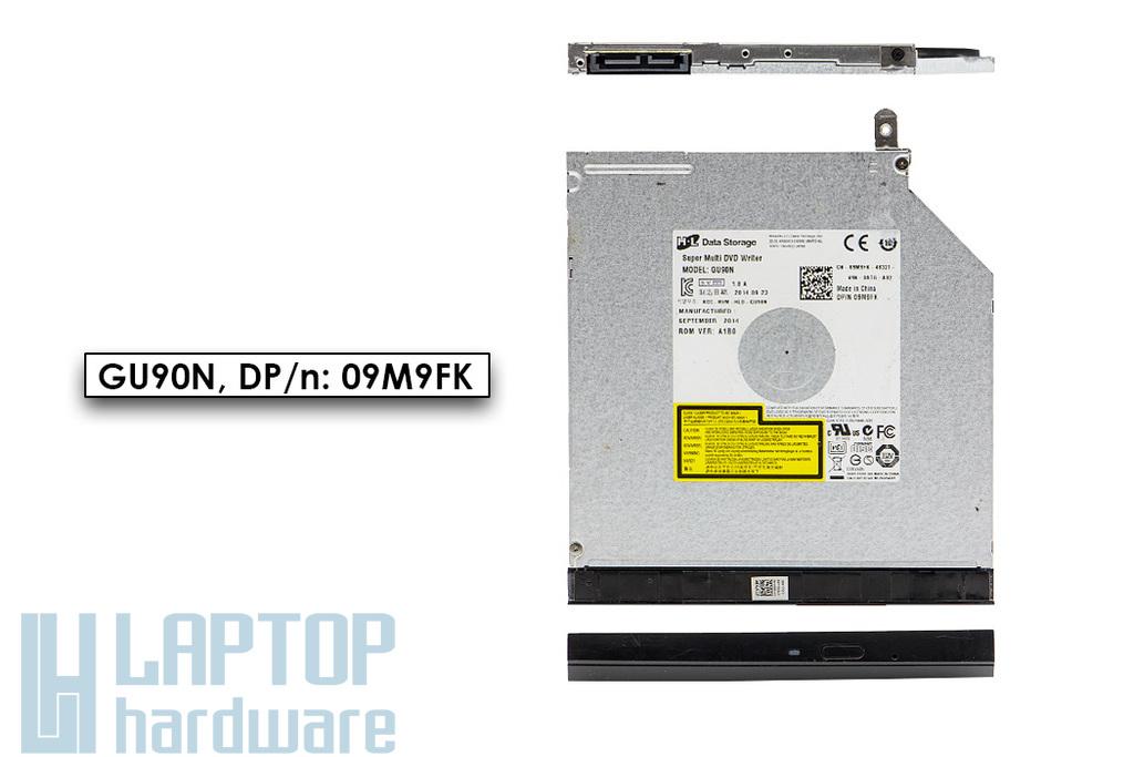Dell Latitude E5440, Inspiron 3542, 3737 használt SATA laptop DVD-író előlappal (9.5mm) (GU90N, DP/n 09M9FK)