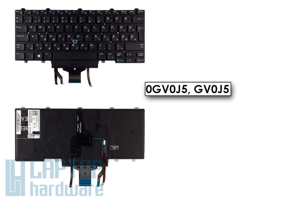 Dell Latitude E5450, E7450 gyári új háttér-világításos magyar laptop billentyűzet (GV0J5)