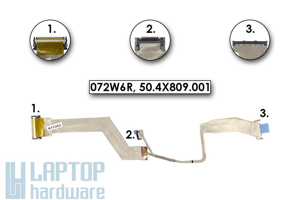 Dell Latitude E5500 gyári új laptop LCD kábel (072W6R)