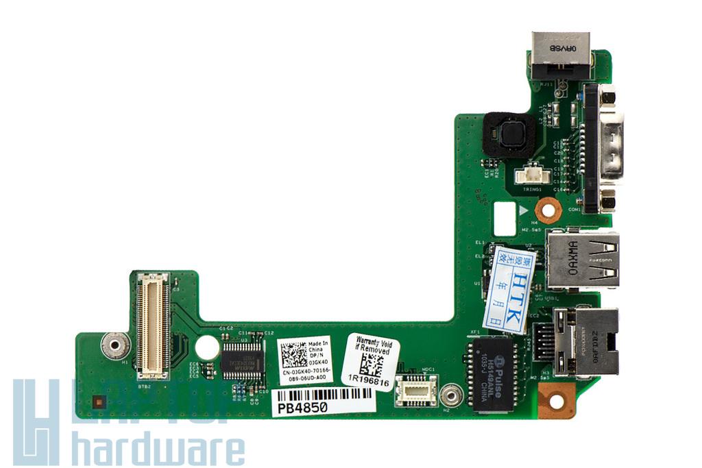 Dell Latitude E5510 gyári új laptop USB/VGA/LAN/Modem panel (0JGK40, 48.4EQ15.011)