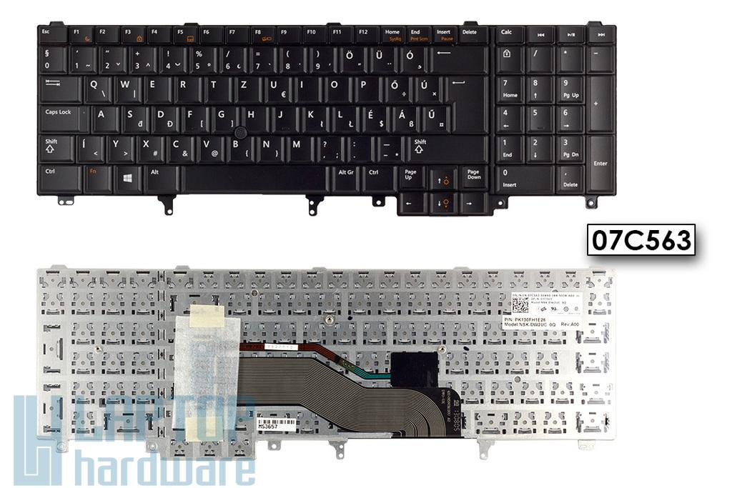 Dell Latitude E5520, E5530, E6520 gyári új magyar laptop billentyűzet, Win 8 (07C563)