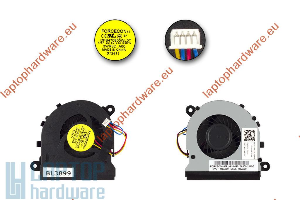 Dell Latitude E5520 használt hűtő ventilátor, 3WR3D, DFS470805WL0T, Forcecon