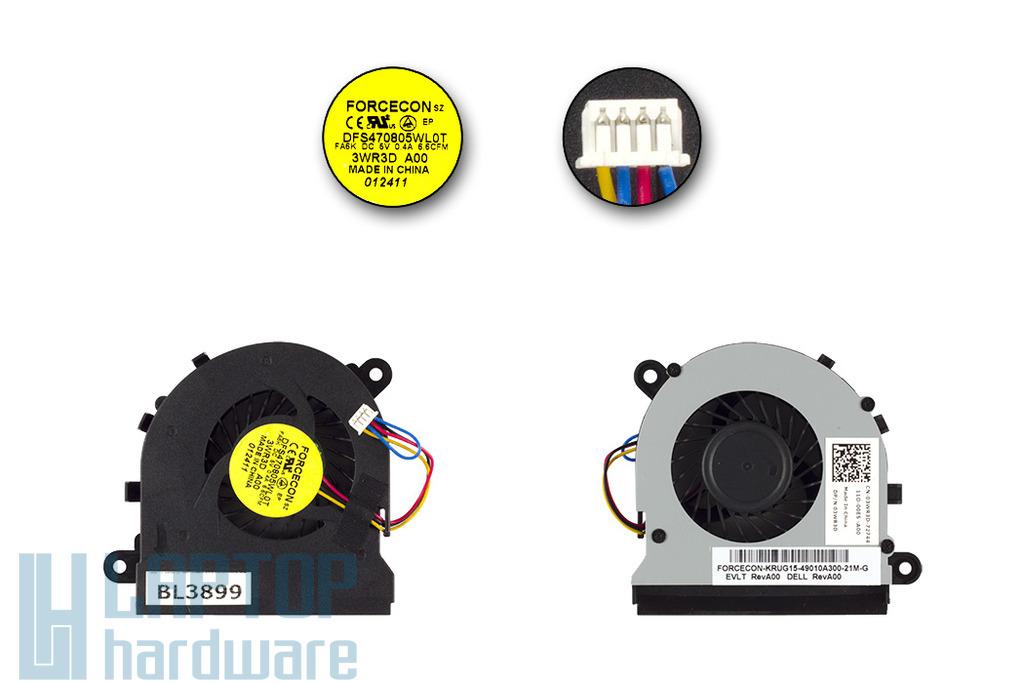 Dell Latitude E5520 gyári új hűtő ventilátor, 3WR3D, DFS470805WL0T, Forcecon