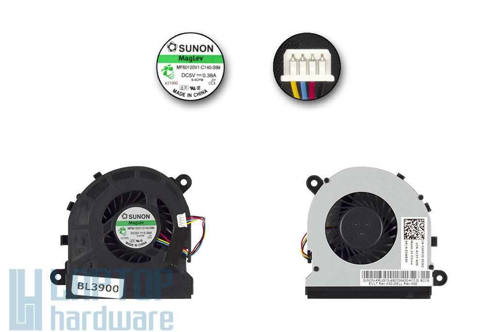 Dell Latitude E5520 gyári új hűtő ventilátor, 3WR3D, MF60120V1-C140-S99, Sunon
