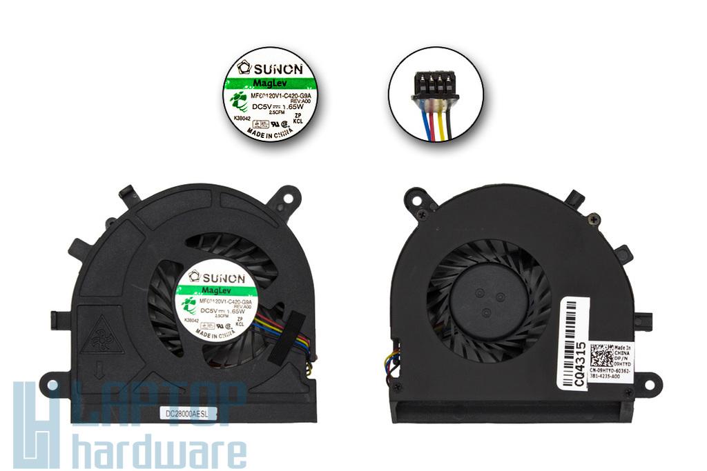 Dell Latitude E5530 gyári új laptop hűtő ventilátor (4 pin) (9HTYD, MF60120V1-C420-G9A)