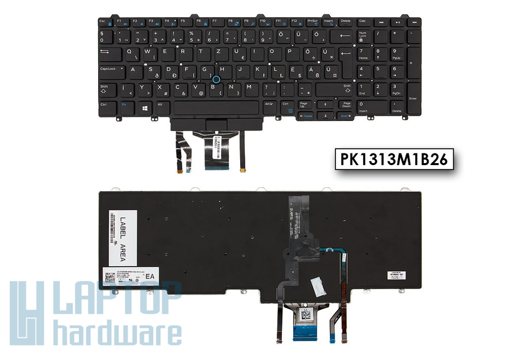 Dell Latitude E5550 gyári új magyar keret nélküli háttér-világításos laptop billentyűzet trackpointtal (05DRWM)