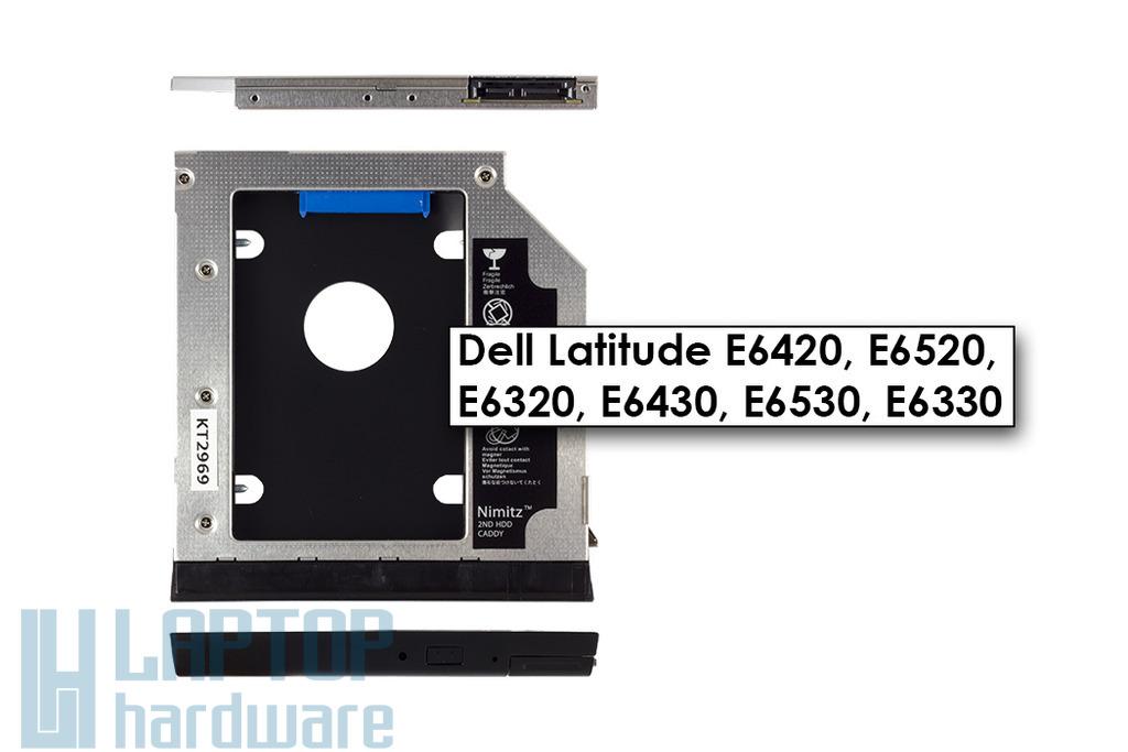 Dell Latitude E6320, E6420, E6520 Winchester beépítő keret 9.5mm-es DVD meghajtó helyére