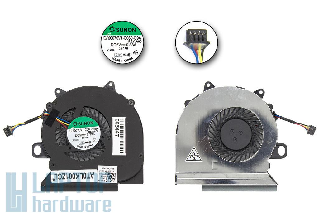 Dell Latitude E6330, E6430s gyári új laptop hűtő ventilátor (09VGM7, EF60070V1-C060-G9A)