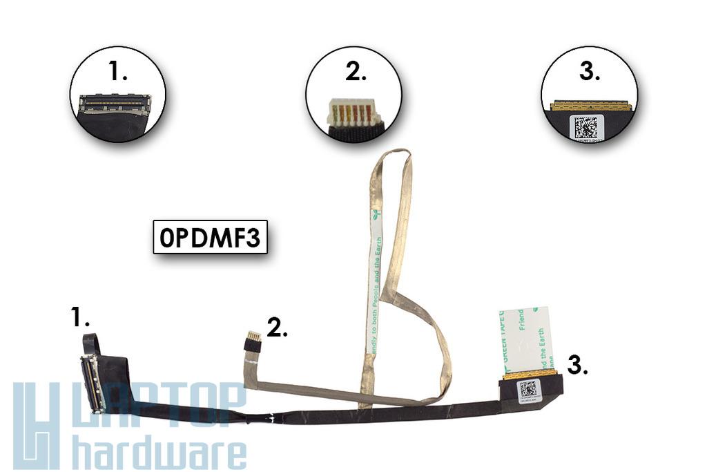 Dell Latitude E6330, Inspiron 1370 laptopokhoz gyári új LCD kábel (0PDMF3)