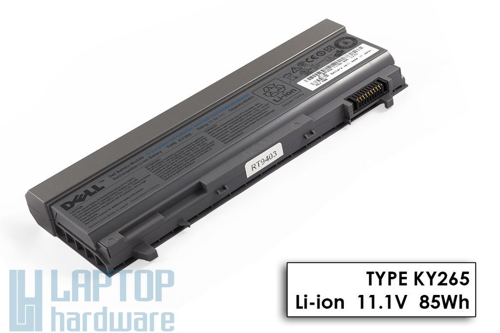 Dell Latitude E6400, E6410, E6500, E6510 gyári új 9 cellás laptop akku/akkumulátor (TYPE KY265, MP492)